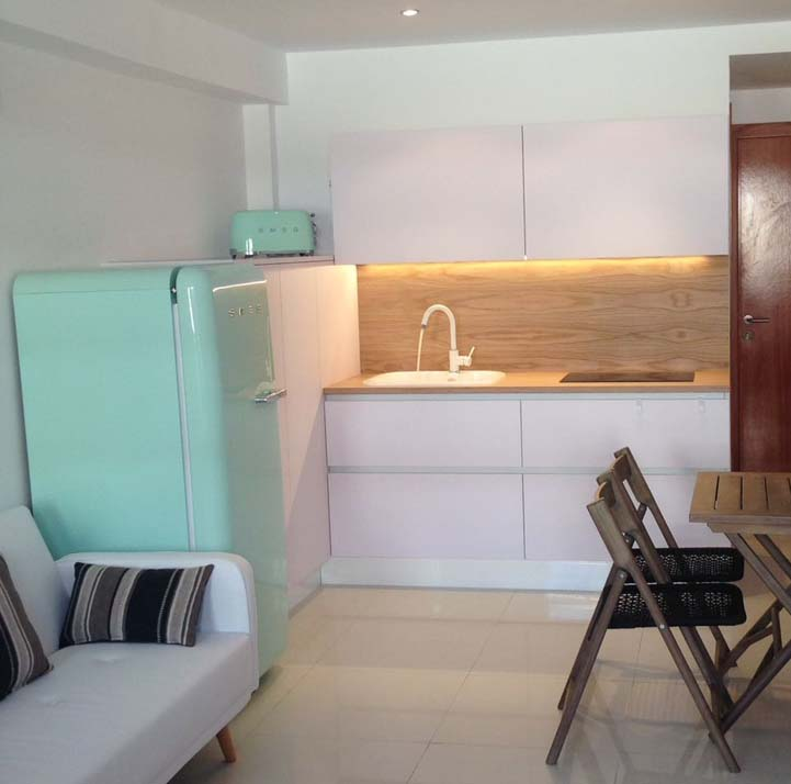 Cocina apartamento blanco fénix - Arnit
