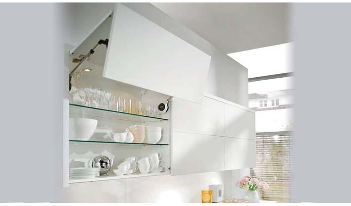 Alzamiento aventos HF posicional puertas plegables cocina