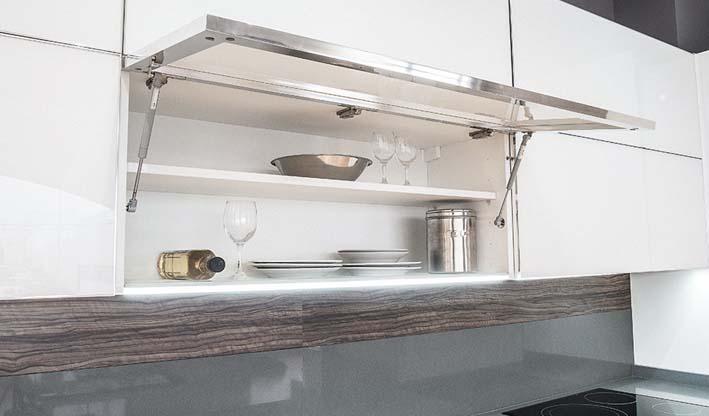 Abatible gas para muebles altos cocina baño hogar