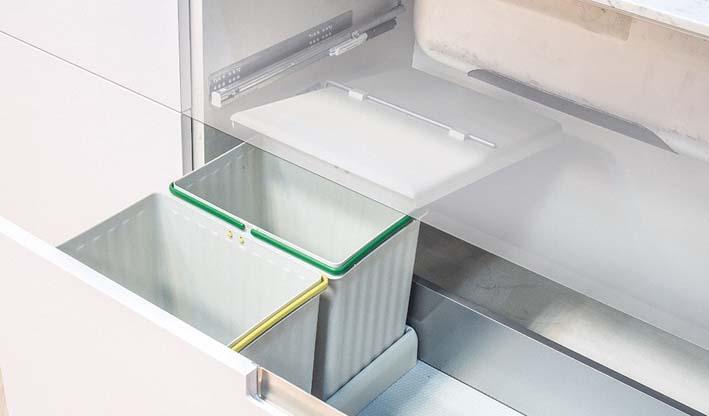 Cubo ecológico Kit-2 (kit-3) para interior de cajón de cocina