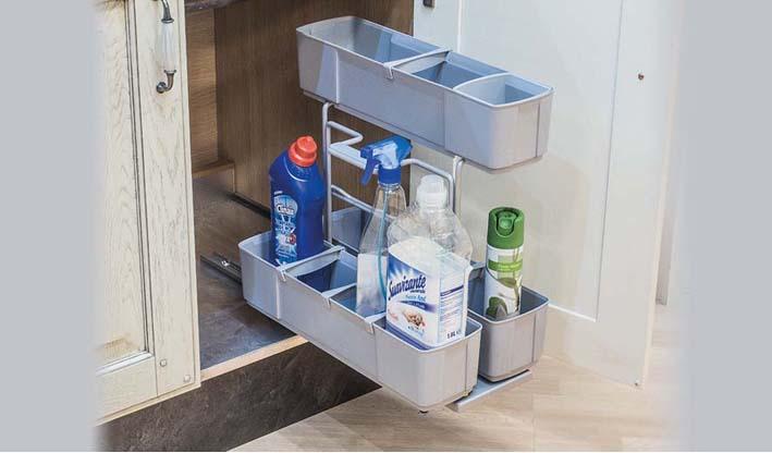 Cesta de limpieza extraíble para bajo fregadero de cocina
