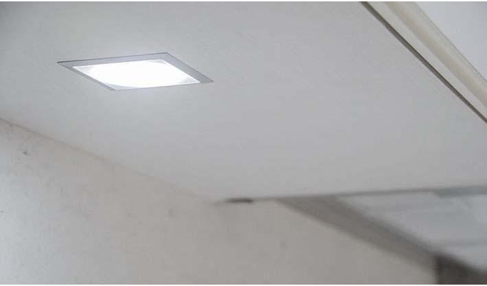 Foco led sun encastrado para iluminar la encimera de cocina