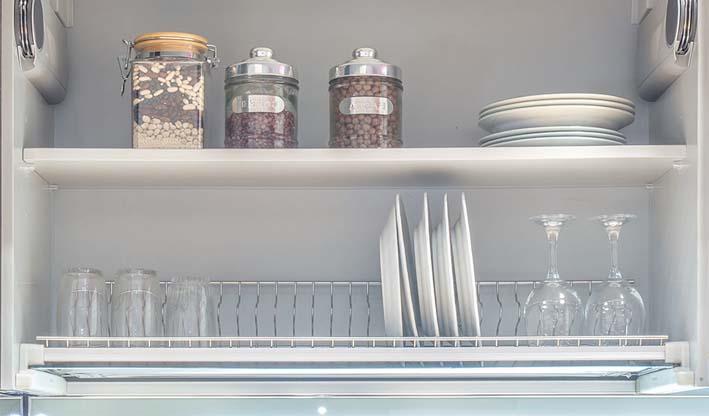 Escurreplatos único platos-vasos para muebles alto cocina horizontales