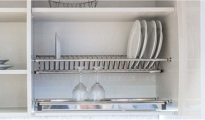 Rejilla platos y vasos acero bandeja para mueble alto escurreplatos