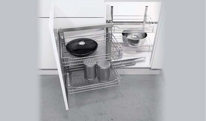 Rejilla telescópica para mueble ciego cocina