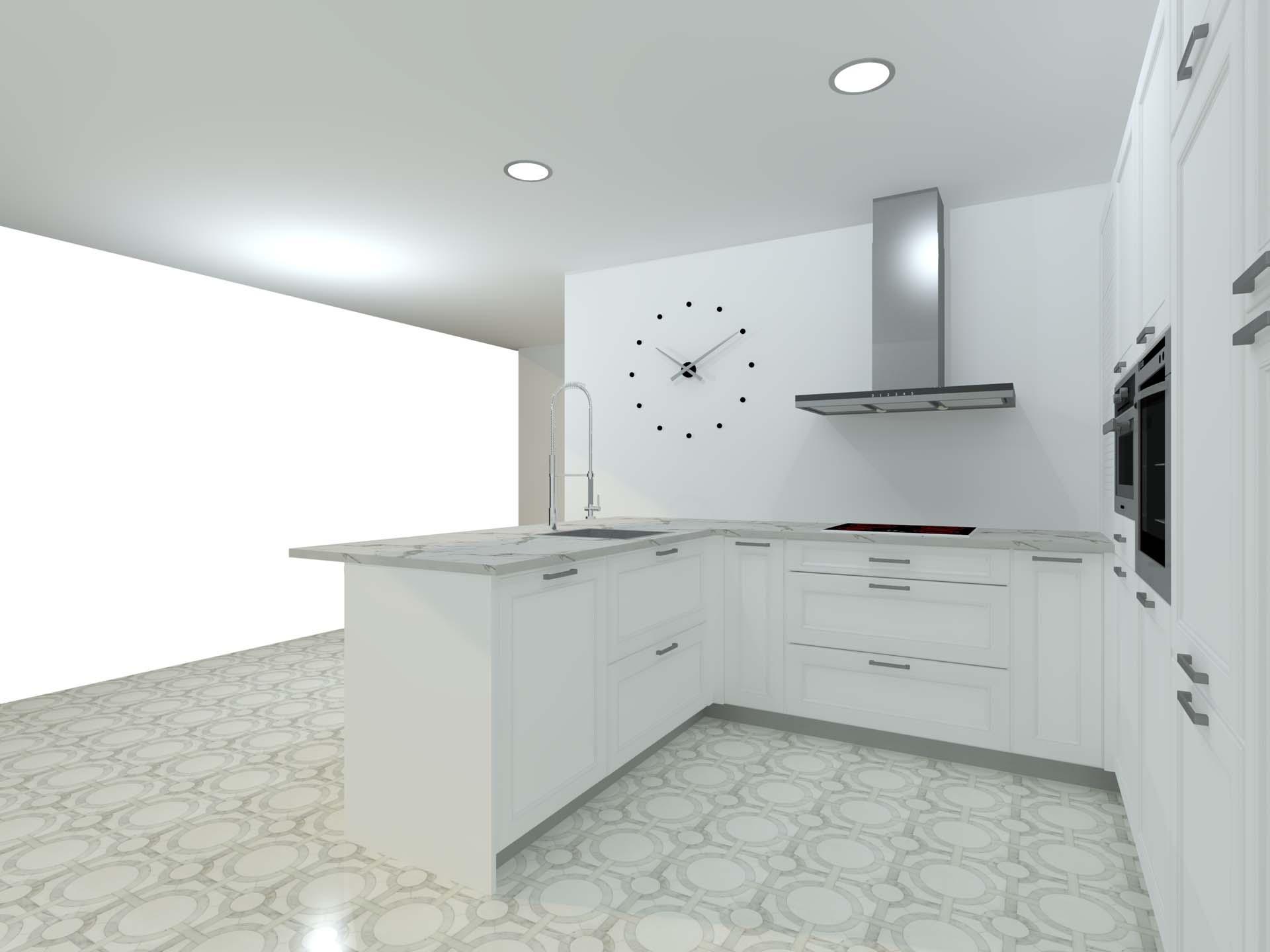 cocina clasica puerta marco