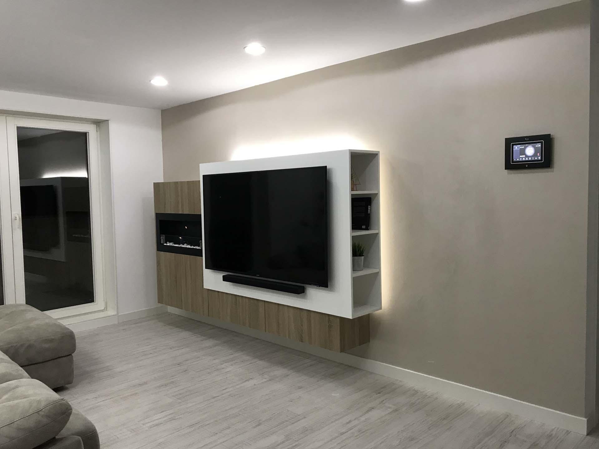 arnit salon led chimenea tv