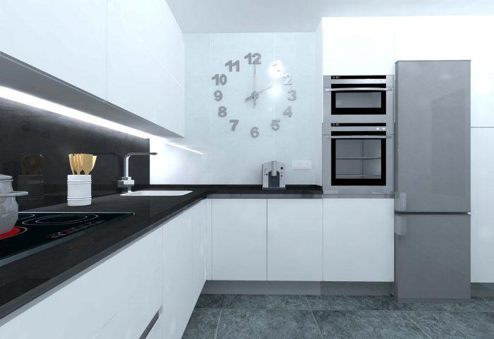 cocina moderna blanco gola