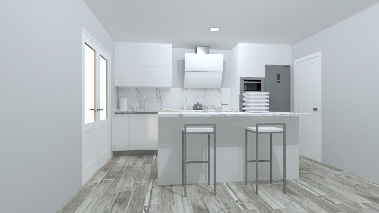 cocina moderna lacada blanca