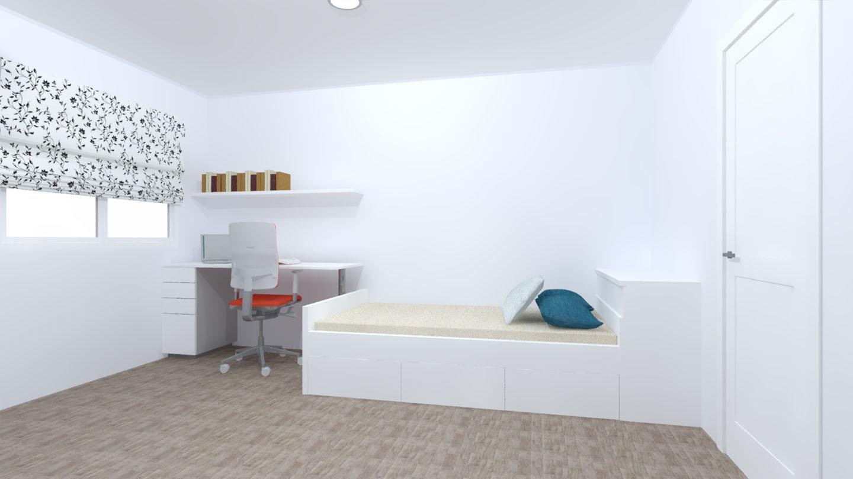 escritorio cama blanco