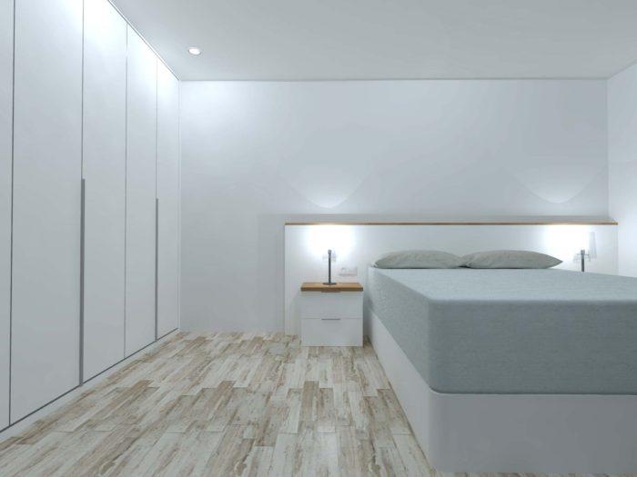 habitacion dormitorio mesilla cabecero