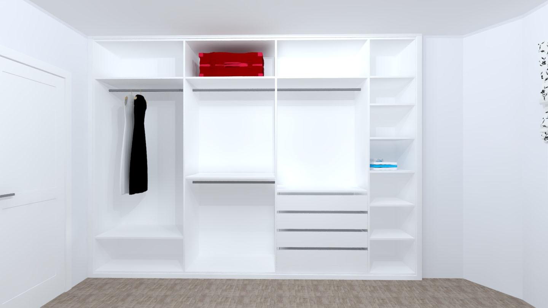 interior armario laminado blanco
