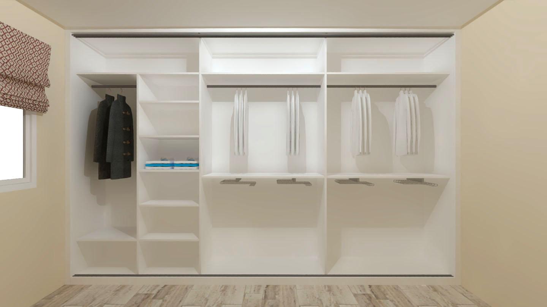 interior armario medida distribucion