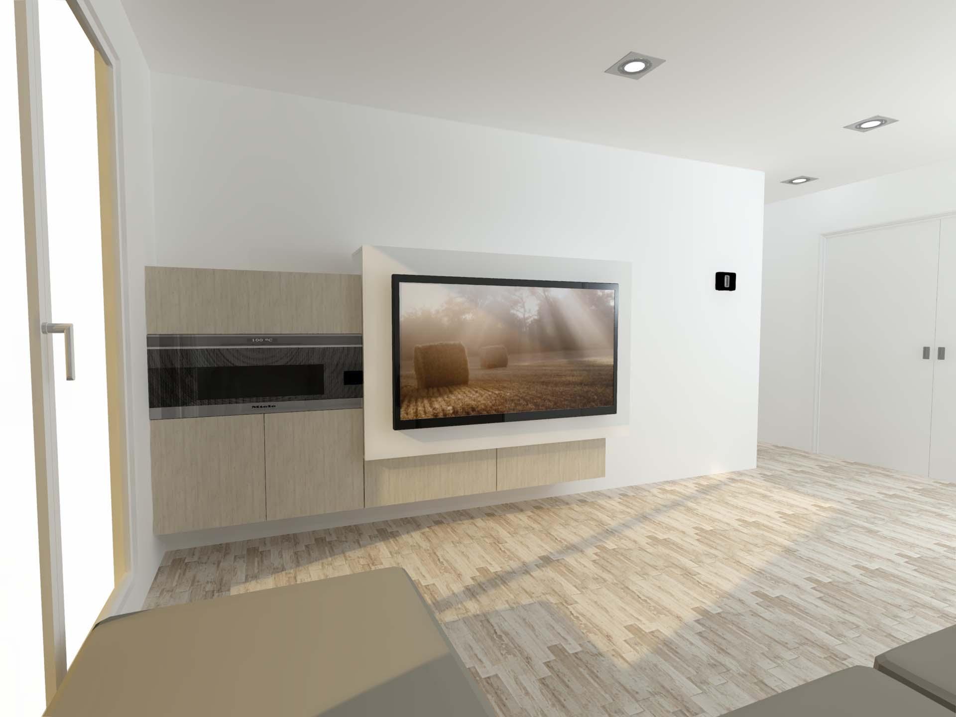 Sal n con chimenea y tv colgada arnit for Decoracion salon con chimenea