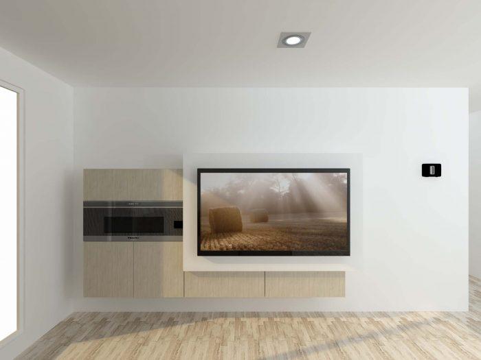 salon moderno chimenea tv