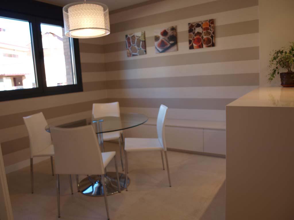 mesas silla cocina moderna