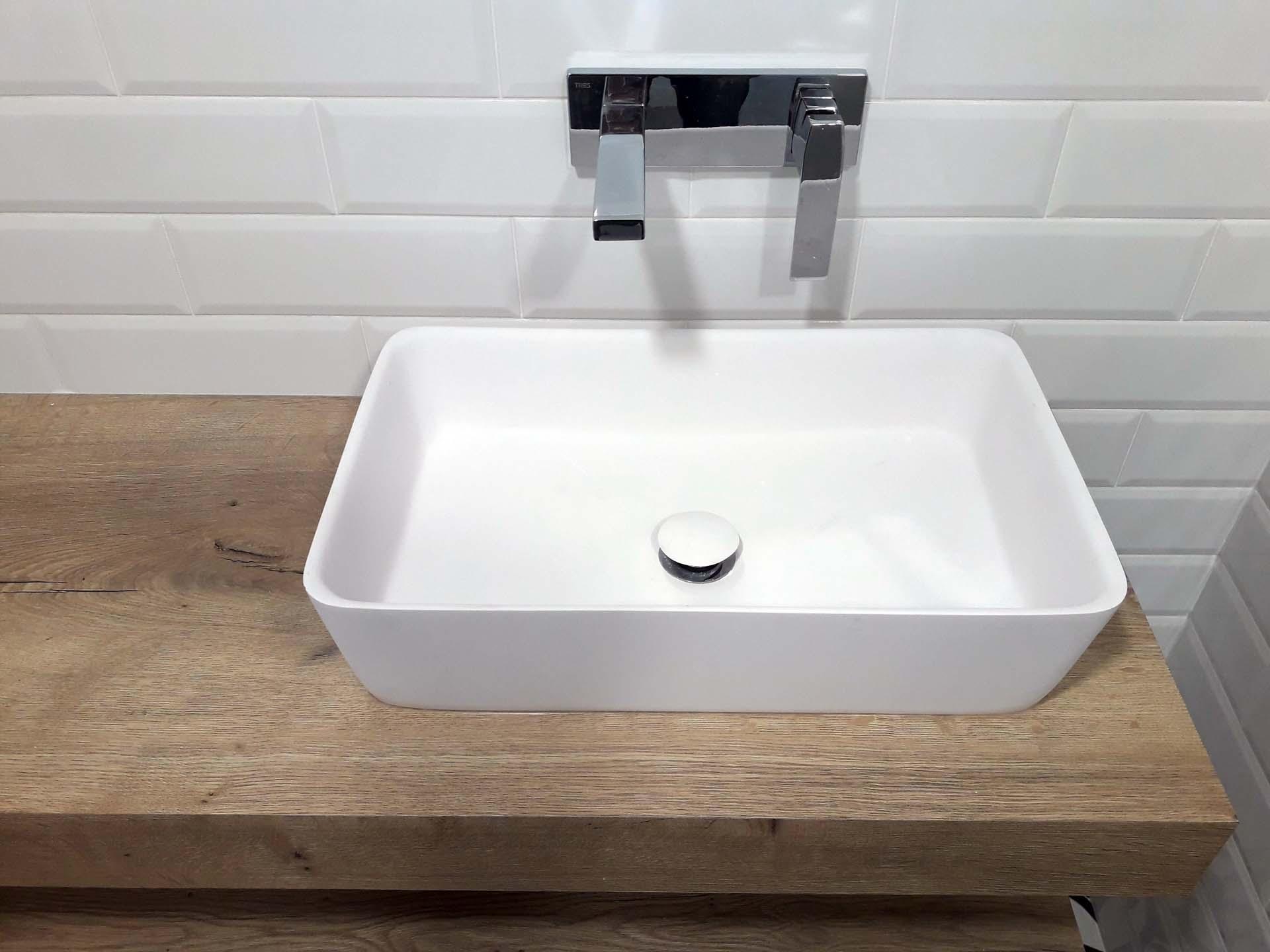 lavabo baño sobre encimera