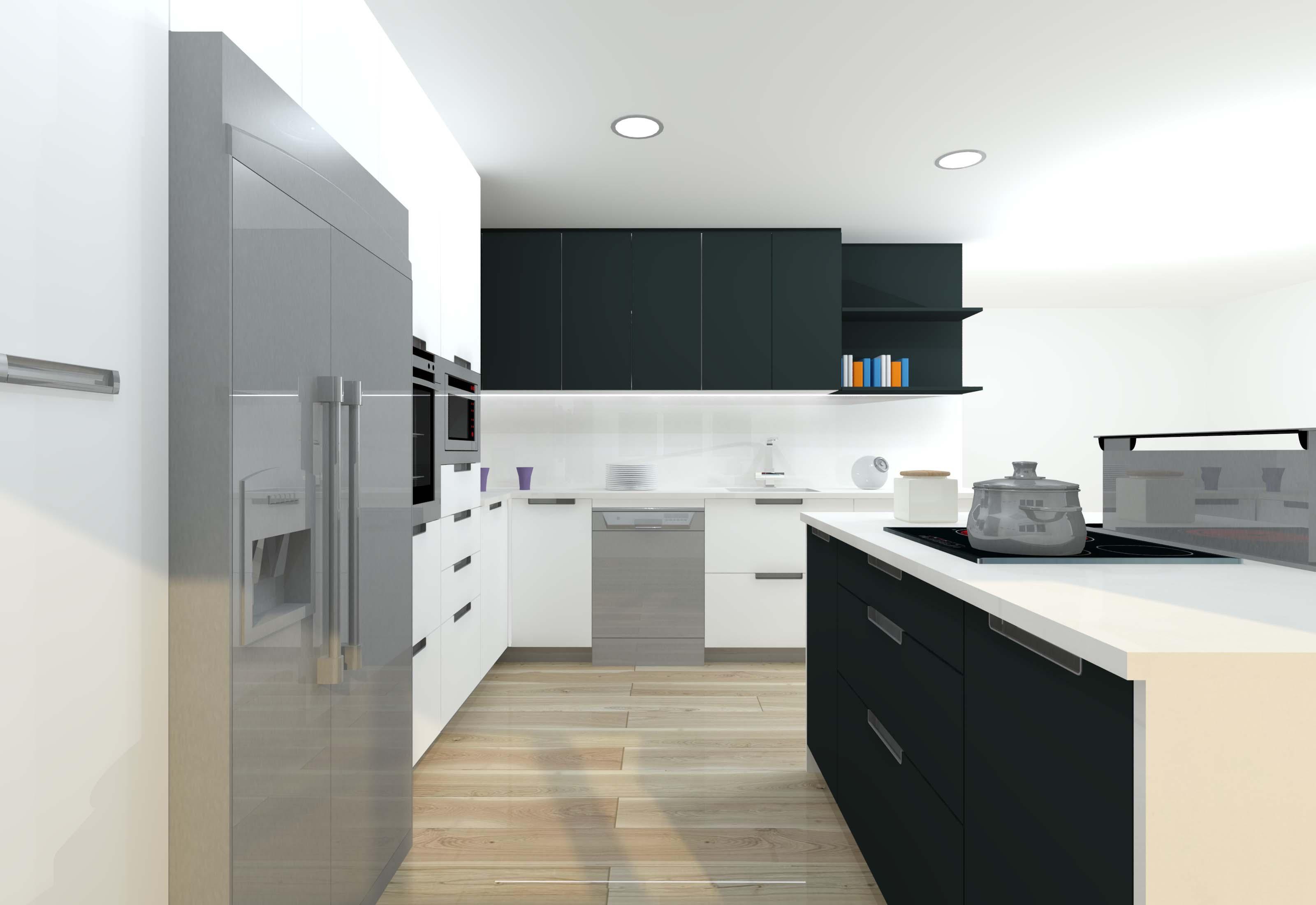 infografia roca blanco antracita cocina